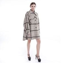 Handgjorda Woolen Cashmere Ladies Coat