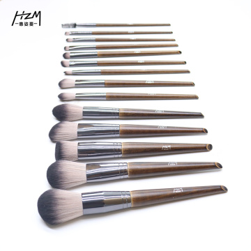 14 Premium Solid Wood Makeup Brushes morphe brush