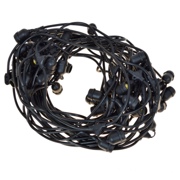 Suspended E26 Medium Sockets Black Cord