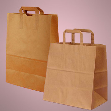 Personalized reusable kraft paper bags