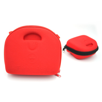 Portable Plastic Storage First Aid Kit Hard Red EVA Case with rubber handles