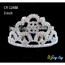 Crystal 3 Inch Wedding Crown Bride Jewelry