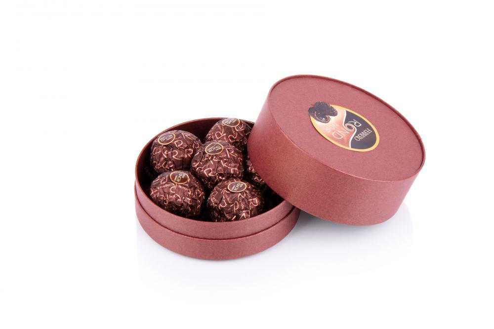 Custom Gift Chocolate Packaging In Round Shape