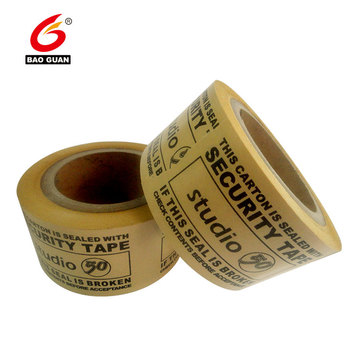 Self Adhesive Logo Printed Kraft Paper Gummed Tape