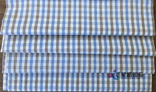Colorful Checked Cotton Fabric For Shirt