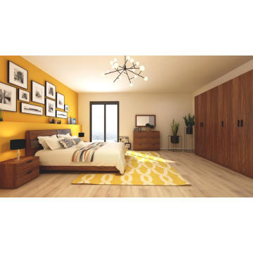 Madilim na Walnut Wooden Adult Bedroom Furniutre Set