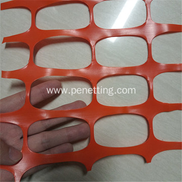 Lightweight highly visible bright orange plastic safety net