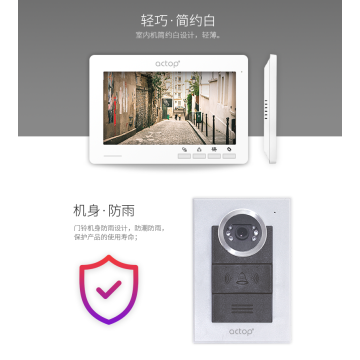 Wire Camera Video Door Phone Intercom