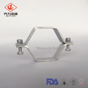 sanitary ss304 hexagon pipe holder