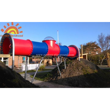 Children Straight Playground Tube Slide For Kids