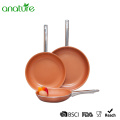 Pressed Copper Aluminum Titanium Ceramic Frying Pan