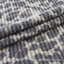 Leopard Print Brushed Waffle Knit Fabric