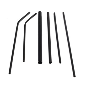 Black Food Grade Stainless Steel Straws Set