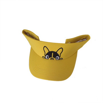 Yellow visor cap girls running sport cap custom