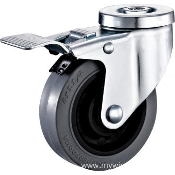 3inch Hollow Rivel Swivel Anti-static TPR Castors With Top Brake