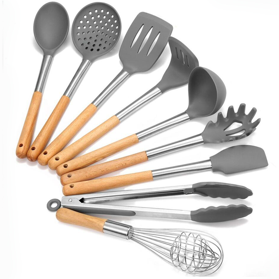 Silicone Kitchen Utensil Cooking Set