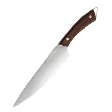 8 INCH CHEF KNIFE with WOOD HANDLE