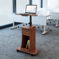 Height Adjustable Mobile Lectern on wheels