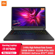 Original Xiaomi Mi Game Laptop 15.6 inch i7-9750H 16G DDR4 RTX2060 512G SSD Notebook 144HZ FHD Screen Windows 10 Gaming Computer