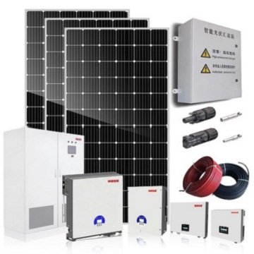 Mono 380W Panel 5KW Hybrid Solar Power System
