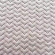 heart shaped jacquard double sided quilted fabric