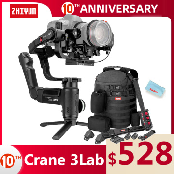 ZHIYUN Official Crane 3 LAB 3-axis handheld gimbal stabilizer, wireless 1080P image transmission zoom and focus control for SLR
