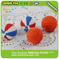 best selling basketball shape cartoon rubber Eraser
