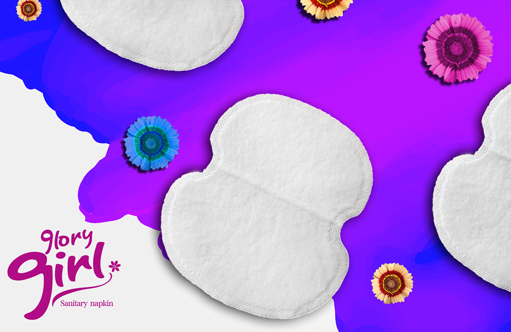 Custmoize brands armpit cotton pad for sweat