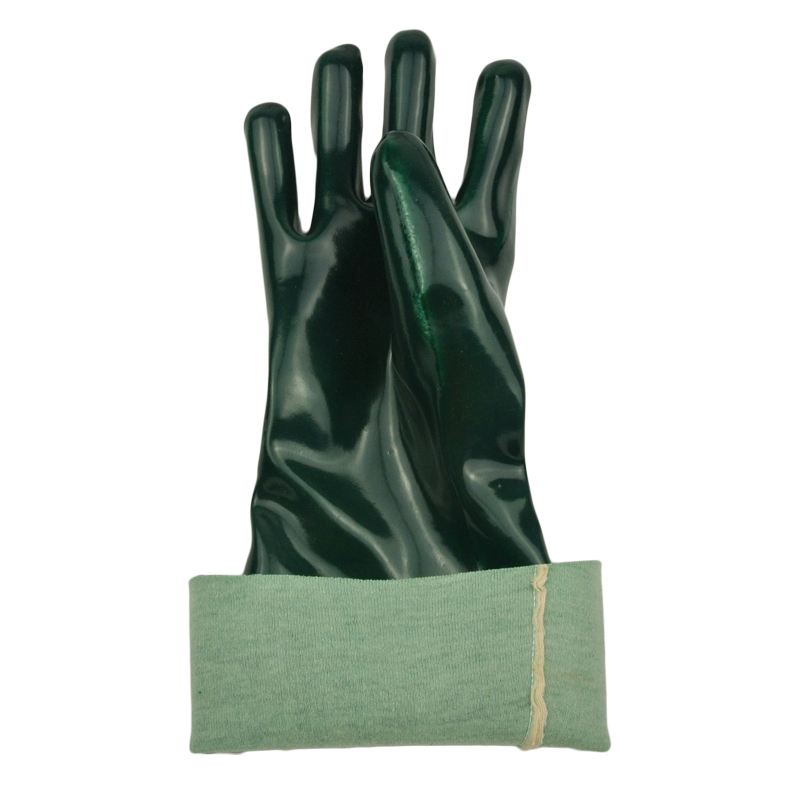 green pvc coated gloves