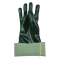 Triple Dipped green pvc gloves with sandy finish