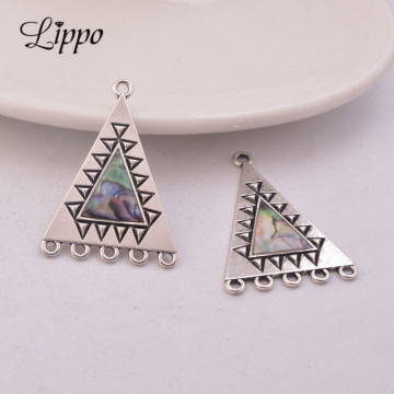 12pcs Zinc Alloy Antique Silver Jewelry Connector Triangle Pendant Jewelry Connector Accessories