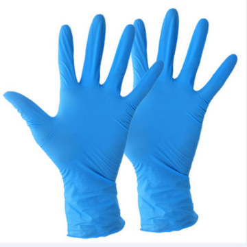 Blue White Medical Disposable Nitrile Gloves Powder Free