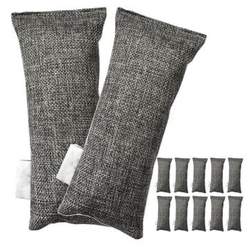12 Packs Each Mini Bamboo Charcoal Bags Natural Air Purifier, Shoe Deodorizer and Odor Eliminator (Pack of 12 Bags)