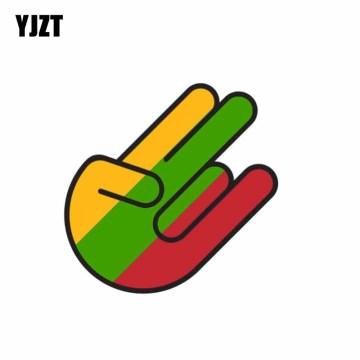 YJZT 10.4CM*15.8CM Personality Lithuania Flag Shocker Decal Car Sticker Accessories 6-1071