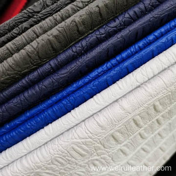 Snake Grain PVC Artficial Leather With Nonwoven Backing