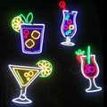 DRINKING BAR NEON SIGN