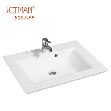 Mid-edge kitchen countertop hand wash basin