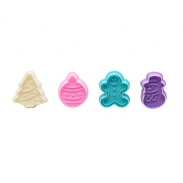 Plastic Cookie Stamps Set Christmas