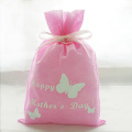Pink Butterfly Mother's Day Gift Packaging Bags