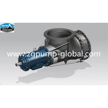 Large diameter axial flow pump