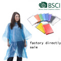 disposable emergency PE rain poncho for Protective clothing