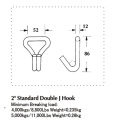 Hot Sale Standard Double J Hook With 50MM Width