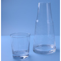 Pattern Cutting Clear Bedside Water Carafe Set