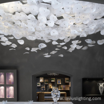 Large project shopping mall crystal chandelier light