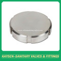 Sanitary solid blind nut end cap without chain