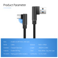 90 Degree Cable Micro USB Gaming Cable 3m 2m Long Usb Cable Kablo For Samsung A6 A7 J2 J3 J7 2018 J5 Prime 2017 J7 Pro Micro-usb