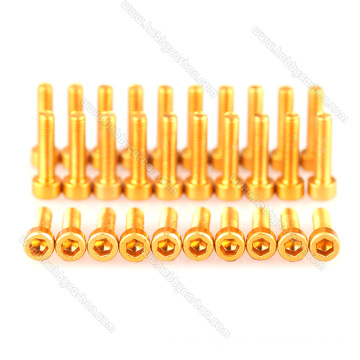 Colorful al7075 al6063 m2m3 allen aluminium cap screw