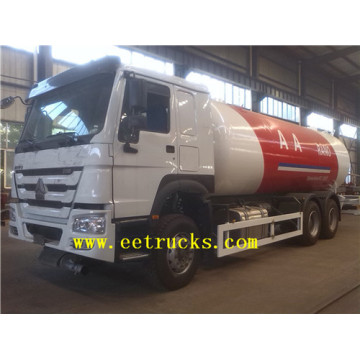 24cbm 6x4 LPG Gas Filling Tank Trucks