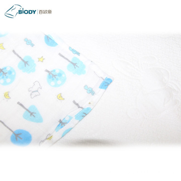 Cute Printed Big Muslin Swaddle Kid Blanket
