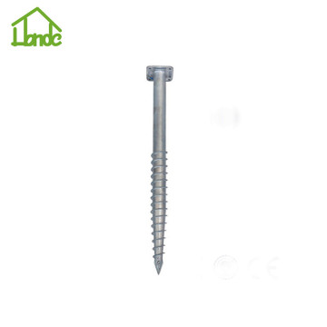 Different sizes of galvanized ground screws